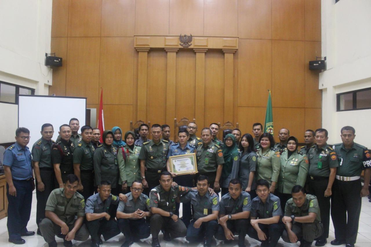 Peringkat 1 Pengisian SIPP di Jajaran Peradilan Militer