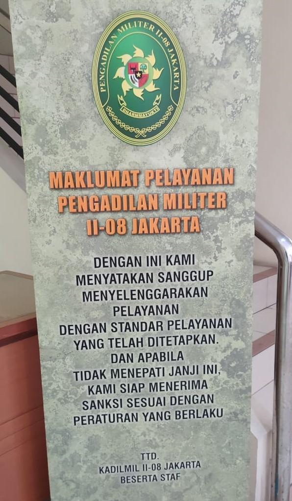 Maklumat Pelayanan Dilmil-08 Jakarta