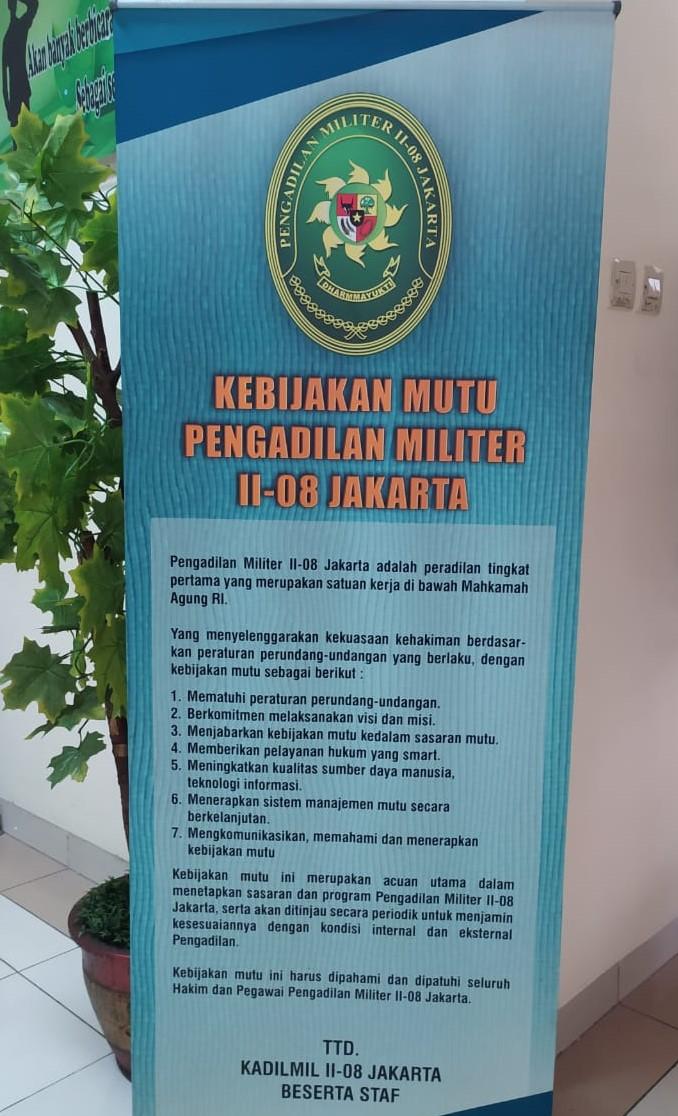 Kebijakan Mutu Dilmil II-08 Jakarta
