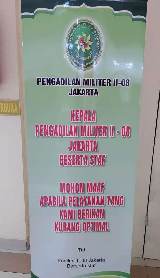 Kebijakan Layanan Dilmil II-08 Jakarta